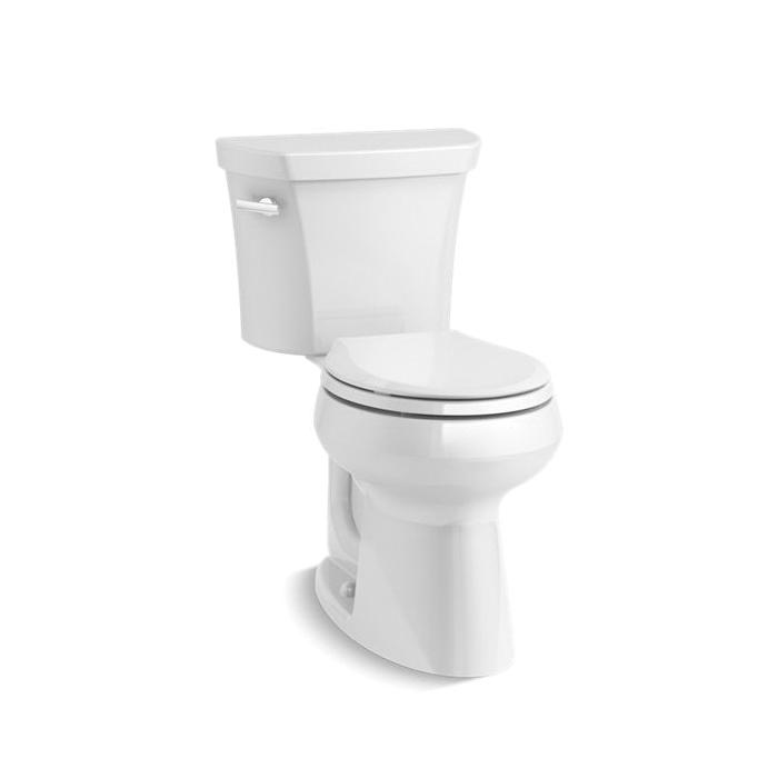 Kohler® 5481-U-0 Highline® 2-Piece Toilet, Round Front Bowl, 5-3/8 in H Rim, 1.28 gpf, White