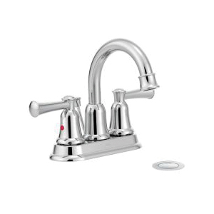 CFG 41217 Lavatory Faucet, Capstone®, Chrome Plated, 2 Handles, 50/50 Pop-Up Drain, 1.2 gpm