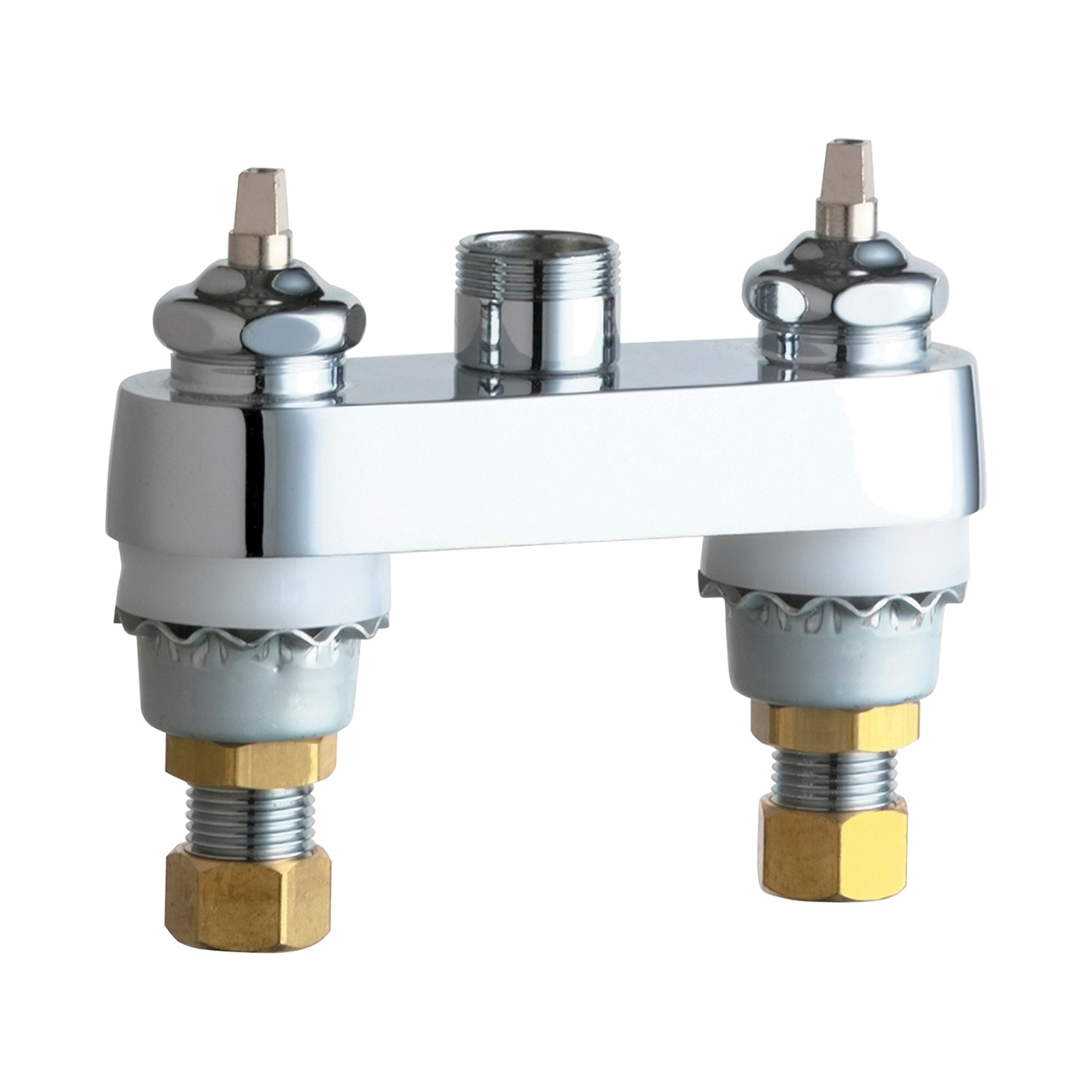 Chicago Faucet® 895-LESHAB Lavatory Sink Faucet, Chrome Plated