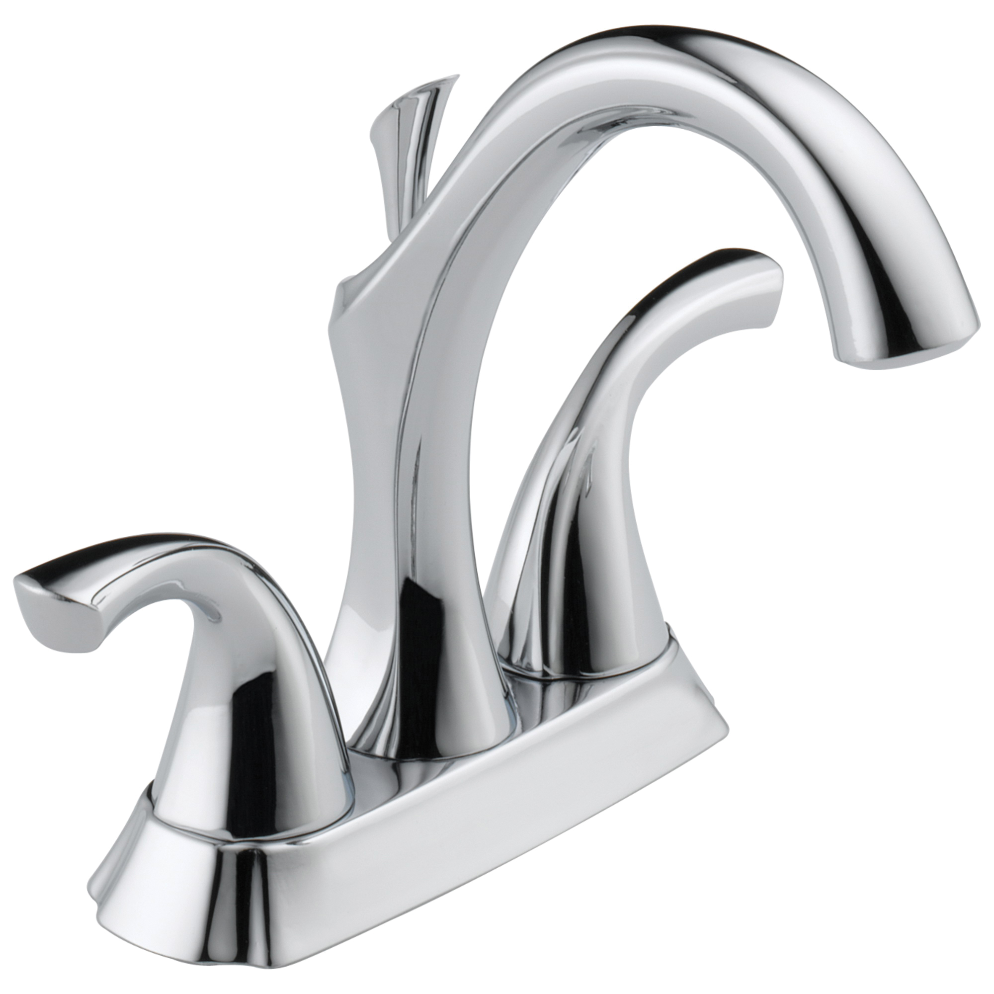 DELTA® 2592-MPU-DST Centerset Lavatory Faucet, Addison™, Chrome Plated, 2 Handles, Metal Pop-Up Drain, 1.2 gpm