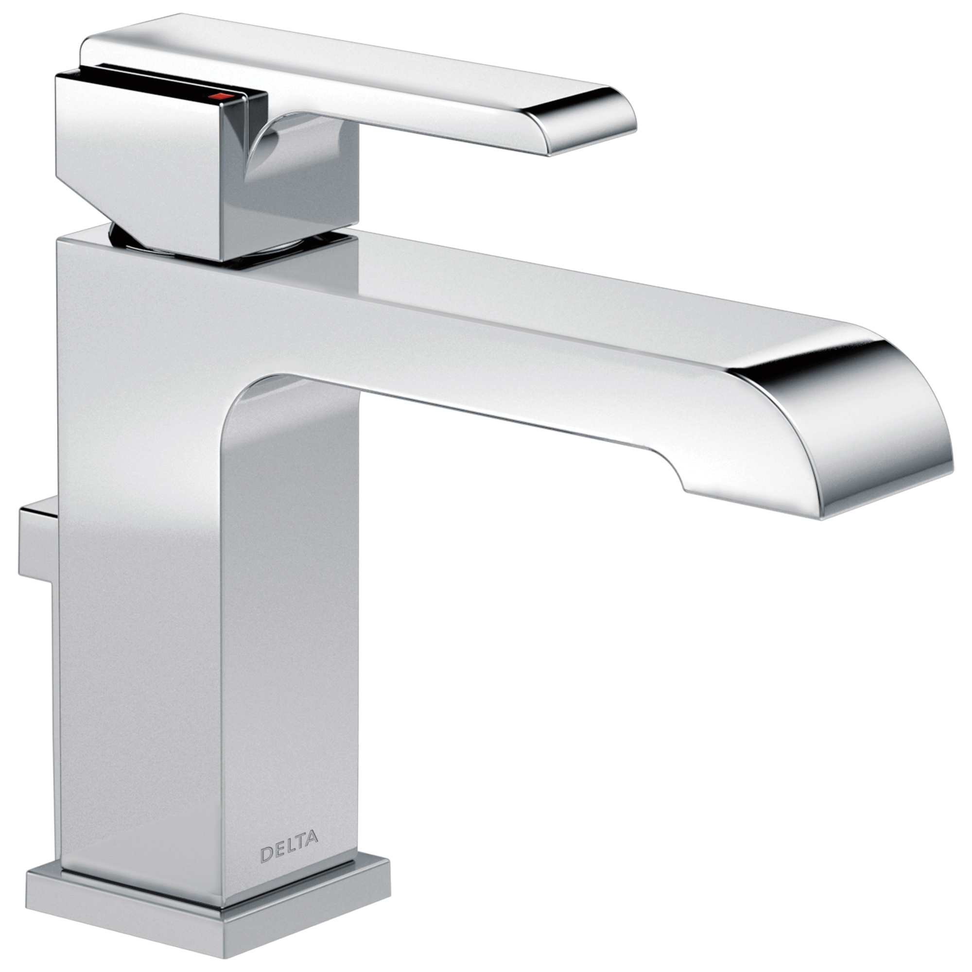 DELTA® 567LF-GPM-MPU Centerset Lavatory Faucet, Ara®, Chrome Plated, 1 Handles, Metal Pop-Up Drain, 1 gpm