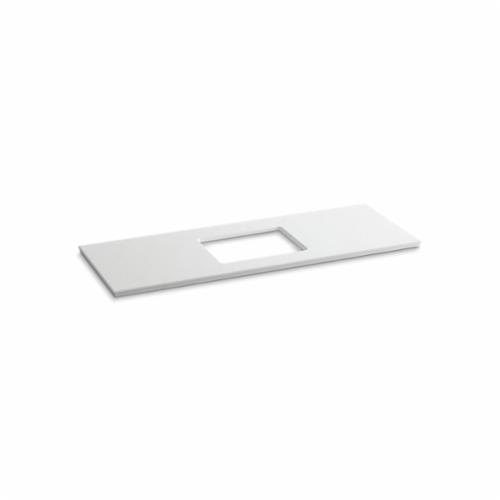 Kohler® 5459-S33 Solid/Expressions™ Vanity Top With Single Verticyl® Rectangular Cutout, 22-13/16 in OAWx22-13/16 in OADx1-1/4 in OAH, Stone White Top