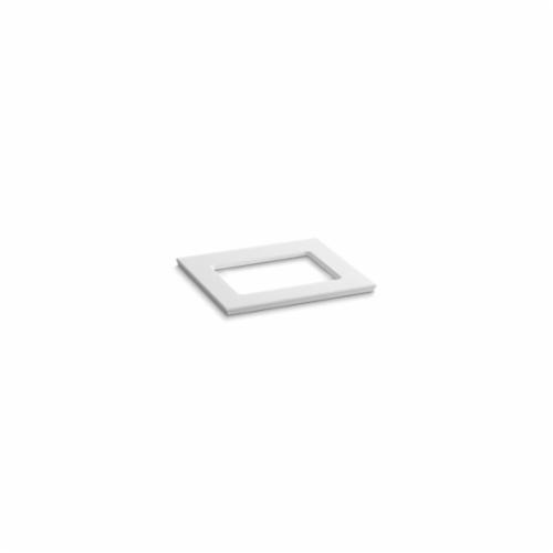 Kohler® 5455-S33 Solid/Expressions™ Vanity Top With Single Verticyl® Rectangular Cutout, 22-13/16 in OAWx22-13/16 in OADx1-1/4 in OAH, Stone White Top