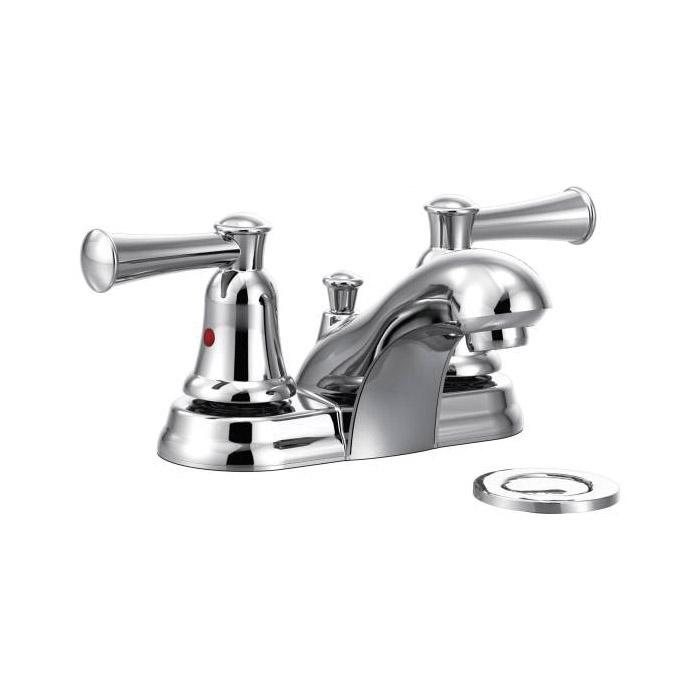 CFG CA41211 Centerset Bathroom Faucet, Capstone®, Chrome Plated, 2 Handles, 50/50 Pop-Up Drain, 1.5 gpm