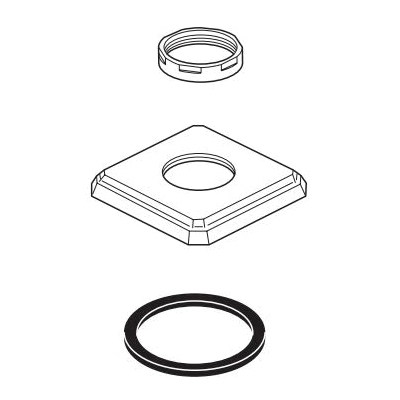 Brizo® RP62449GL Handle Base/Nut/Gasket, For Use With Virage® Model T67330 Roman Tub Trim, Luxe Gold, Import