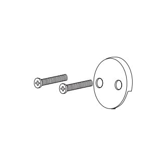 Brizo® RP43153SL Overflow Plate With Screws, For Use With Toe-Operated Bath Waste Assembly, Domestic