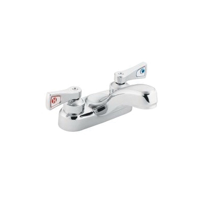 Moen® 8210F12 Centerset Bathroom Faucet, M-DURA™, Chrome Plated, 2 Handles, 1.2 gpm