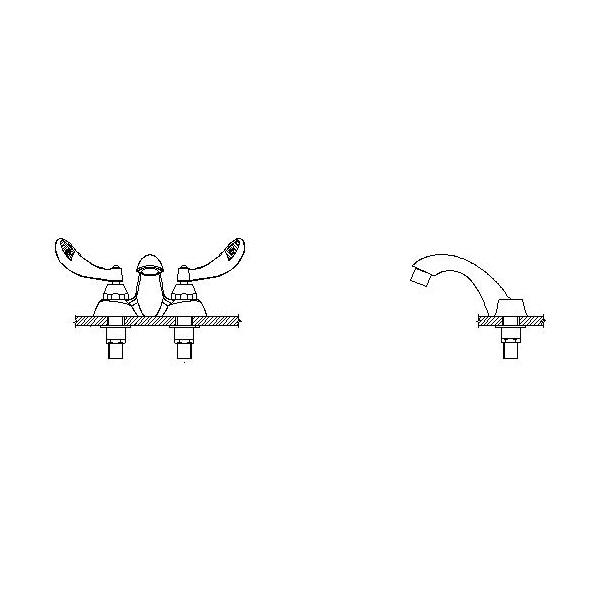 DELTA® 21C124-TI Heavy Duty Centerset Sink Faucet, TECK®, Polished Chrome, 2 Handles, 1.5 gpm
