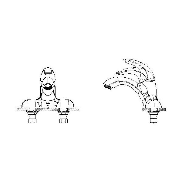 DELTA® 22C451 Centerset Lavatory Faucet, TECK®, Chrome Plated, 1 Handles, 0.5 gpm