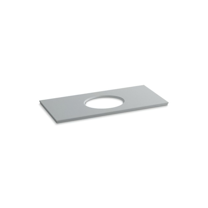 Kohler® 5424-S36 Solid/Expressions™ Bathroom Sink, 49-5/8 in OAWx22-13/16 in OADx1-1/4 in OAH, Ice™ Gray
