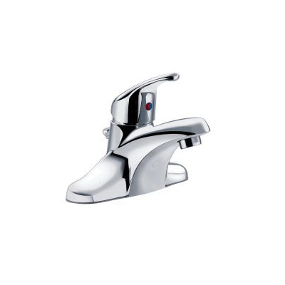 CFG CA40712 Lavatory Faucet, Cornerstone™, Chrome Plated, 1 Handles, 50/50 Pop-Up Drain, 1.2 gpm
