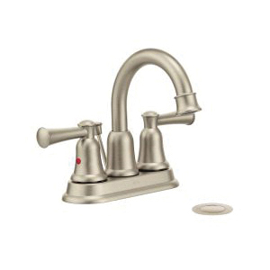 CFG 41217BN Lavatory Faucet, Capstone®, Brushed Nickel, 2 Handles, 50/50 Pop-Up Drain, 1.2 gpm