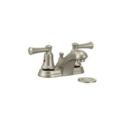 CFG CA41211BN Lavatory Faucet, Capstone®, Brushed Nickel, 2 Handles, 50/50 Pop-Up Drain, 1.2 gpm