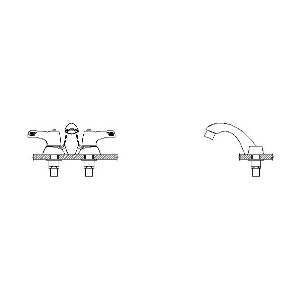DELTA® 21C133-TI Heavy Duty Centerset Sink Faucet, TECK®, Polished Chrome, 2 Handles, 1.5 gpm
