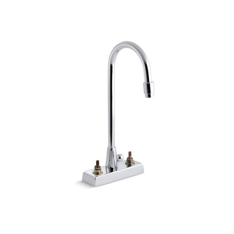 Kohler® 7422-KN-CP Centerset Bathroom Base Sink Faucet, Triton™, Polished Chrome, 2 Handles, Pop-Up Drain, 0.5 gpm
