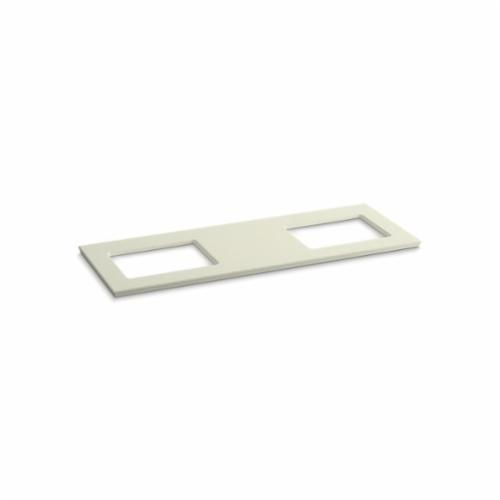 Kohler® 5461-S35 Solid/Expressions™ Vanity Top With Double Verticyl® Rectangular Cutout, 22-13/16 in OAWx22-13/16 in OADx1-1/4 in OAH, Stone Biscuit Top