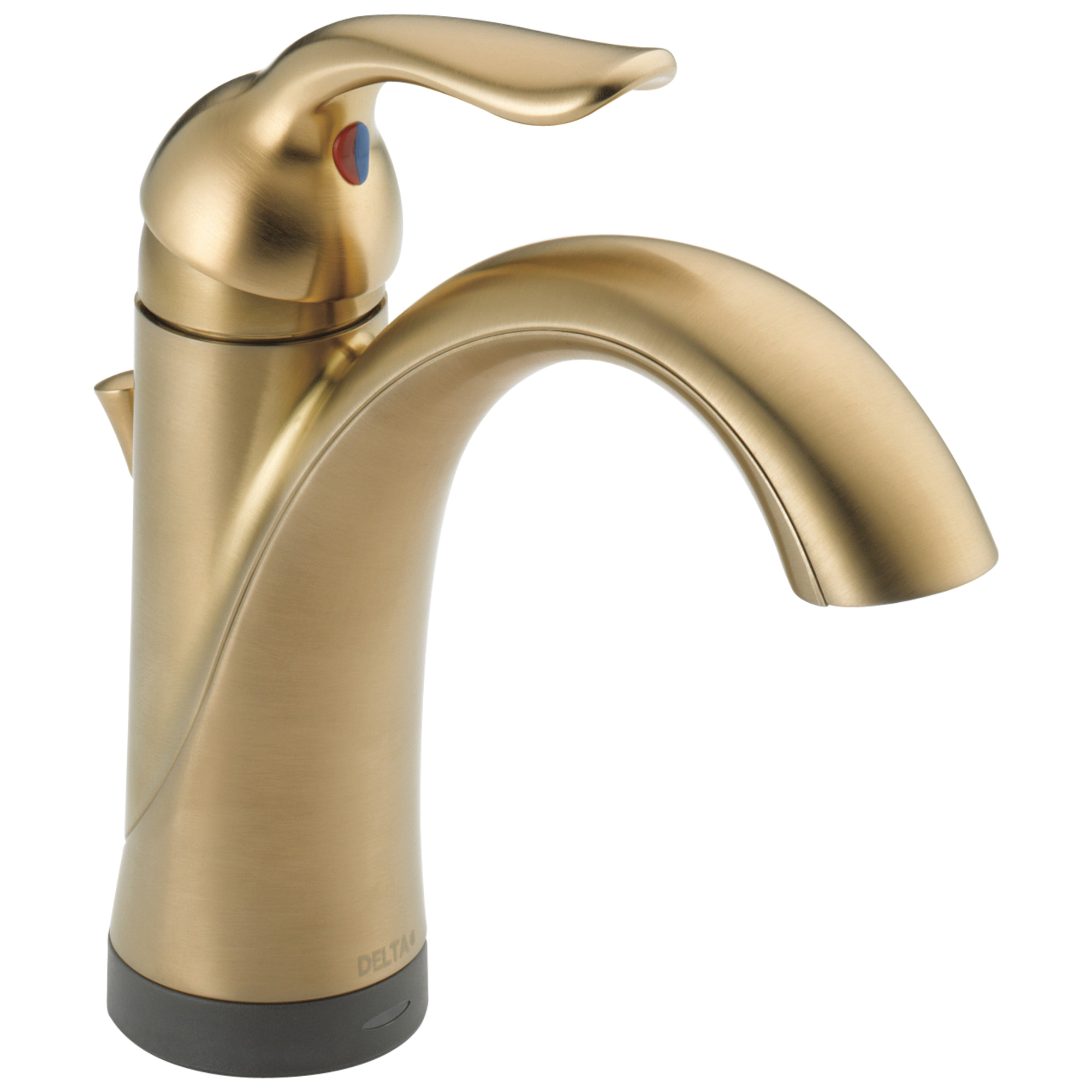 DELTA® 538T-CZ-DST Centerset Lavatory Faucet, Lahara®, Brilliance® Champagne Bronze, 1 Handles, Plastic Pop-Up Drain, 1.2 gpm