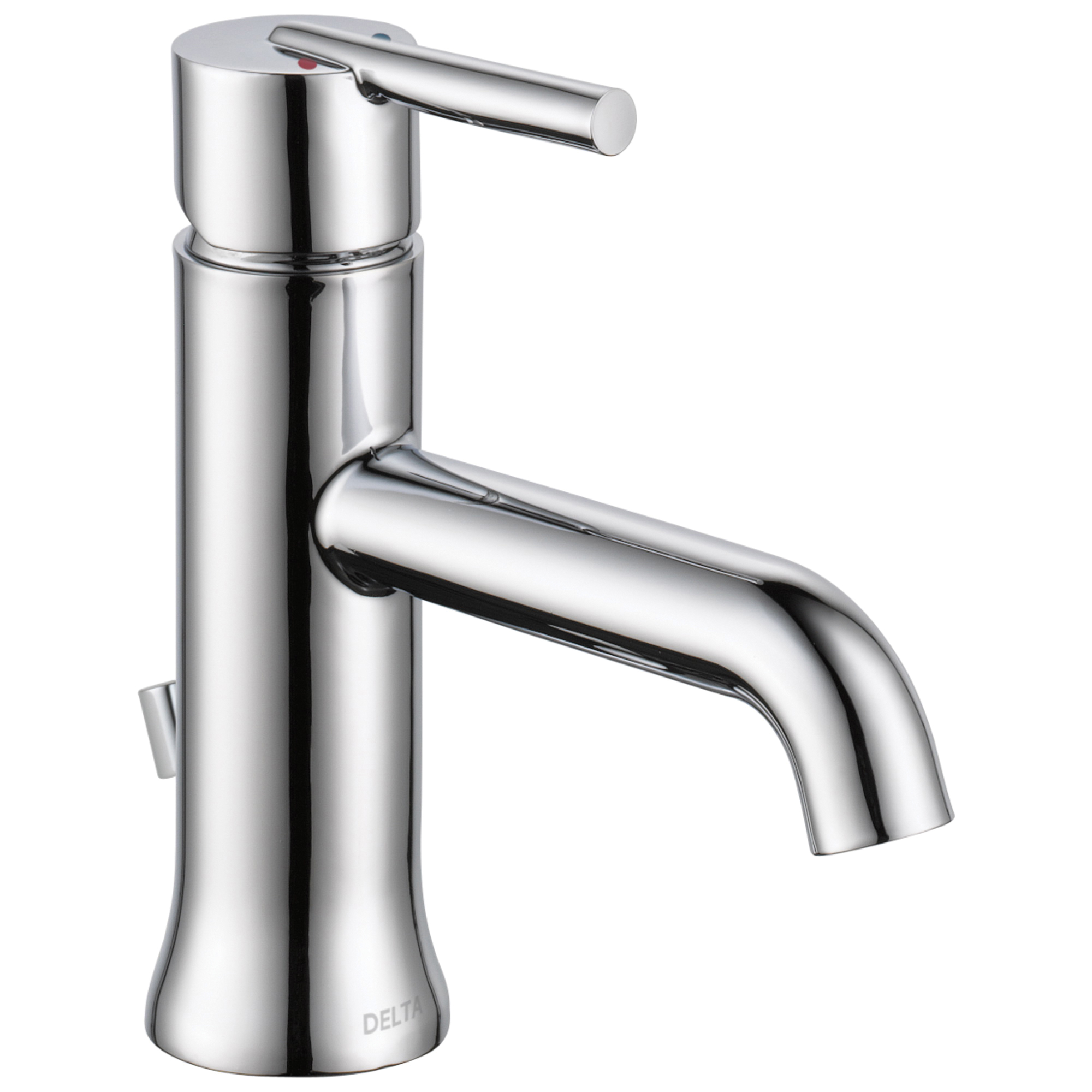 DELTA® 559LF-MPU Centerset Lavatory Faucet, Trinsic®, Chrome Plated, 1 Handles, Metal Pop-Up Drain, 1.2 gpm