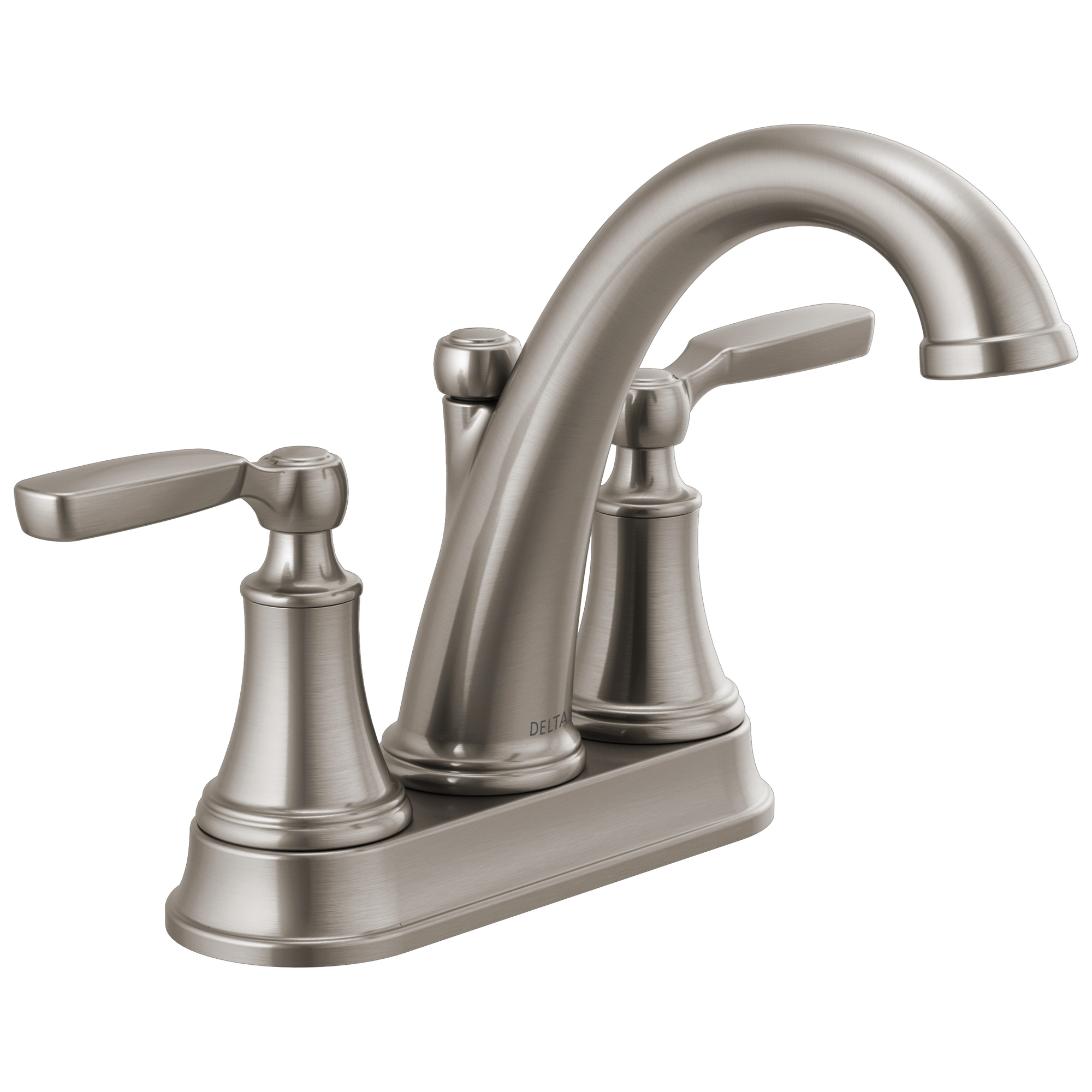 DELTA® 2532LF-SSTP Bathroom Faucet, Woodhurst™, Stainless, 2 Handles, 50/50 Pop-Up Drain, 1.2 gpm