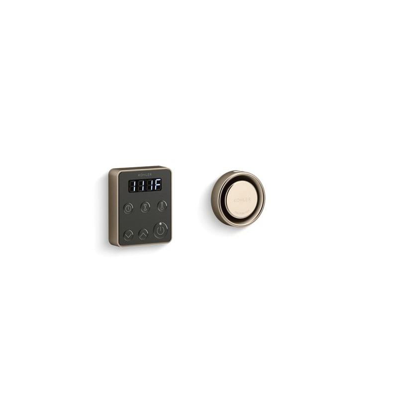 Kohler® 5557-BV Steam Generator Control Kit, Invigoration™, Adjustable Panel, 90 to 125 deg F, Vibrant® Brushed Bronze, For Use With: Invigoration™ 5 to 15 kW Steam Generator