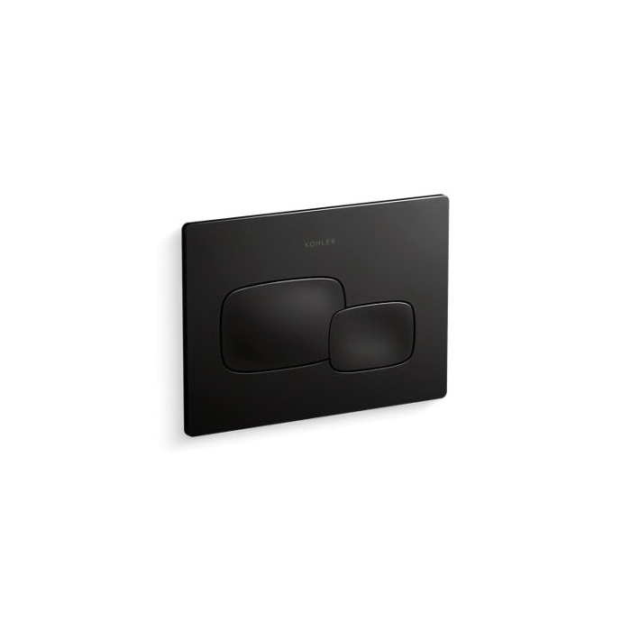 Kohler® 5413-7 Cue™ Flush Actuator Plate, For Use With Model K-18829-NA 2x4 in In-Wall Tank and Carrier System, Black Black™