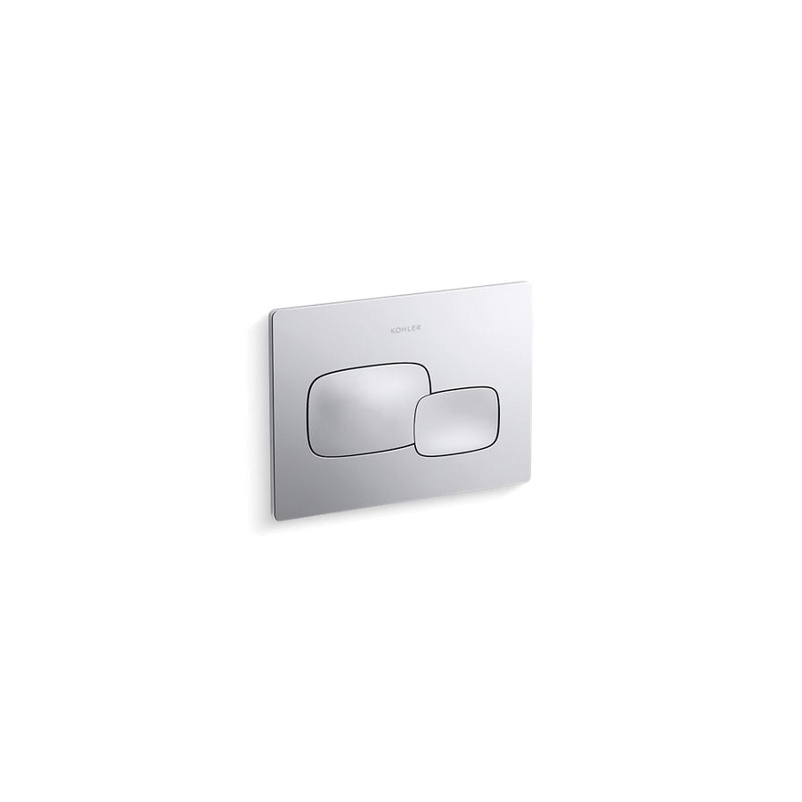 Kohler® 5413-CP Cue™ Flush Actuator Plate, For Use With K-18829-NA 2x4 in In-Wall Tank and Carrier System, Polished Chrome