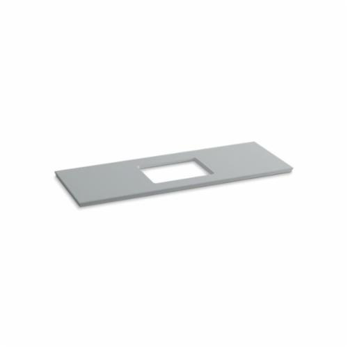 Kohler® 5459-S36 Solid/Expressions™ Vanity Top With Single Verticyl® Rectangular Cutout, 22-13/16 in OAWx22-13/16 in OADx1-1/4 in OAH, Stone Ice Gray Top