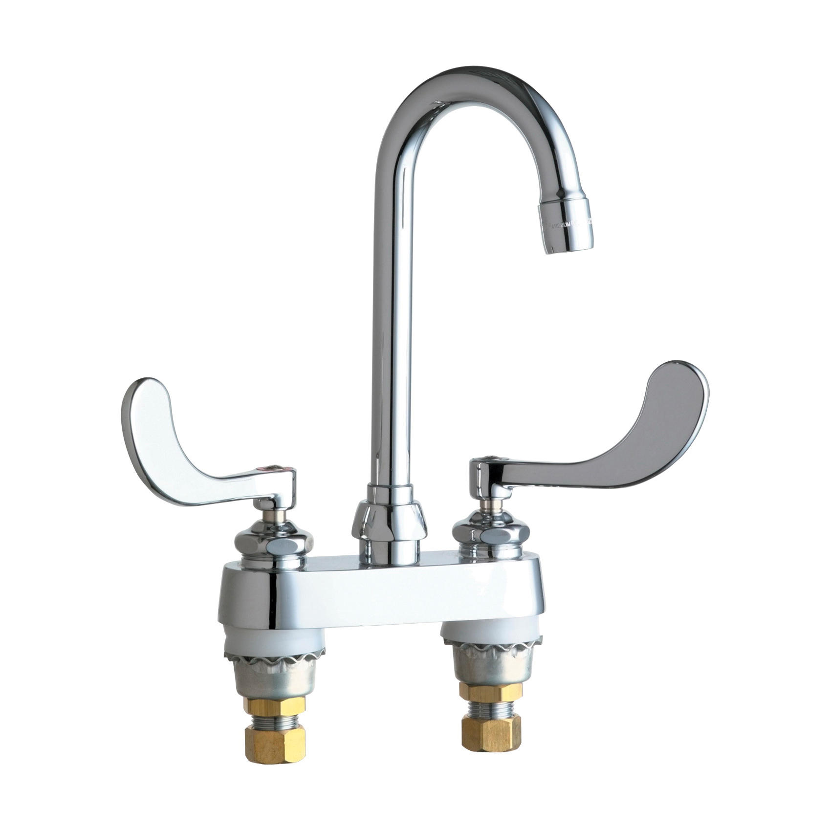 Chicago Faucet® 895-317XKABCP Lavatory Sink Faucet, Chrome Plated, 2 Handles, 2.2 gpm