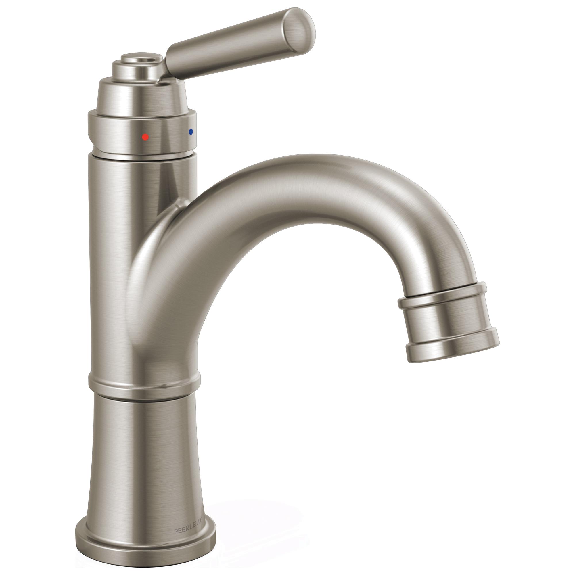 Peerless® P1523LF-BN-M Bathroom Faucet, Westchester™, Brushed Nickel, 1 Handles, Metal Pop-Up Drain, 1 gpm