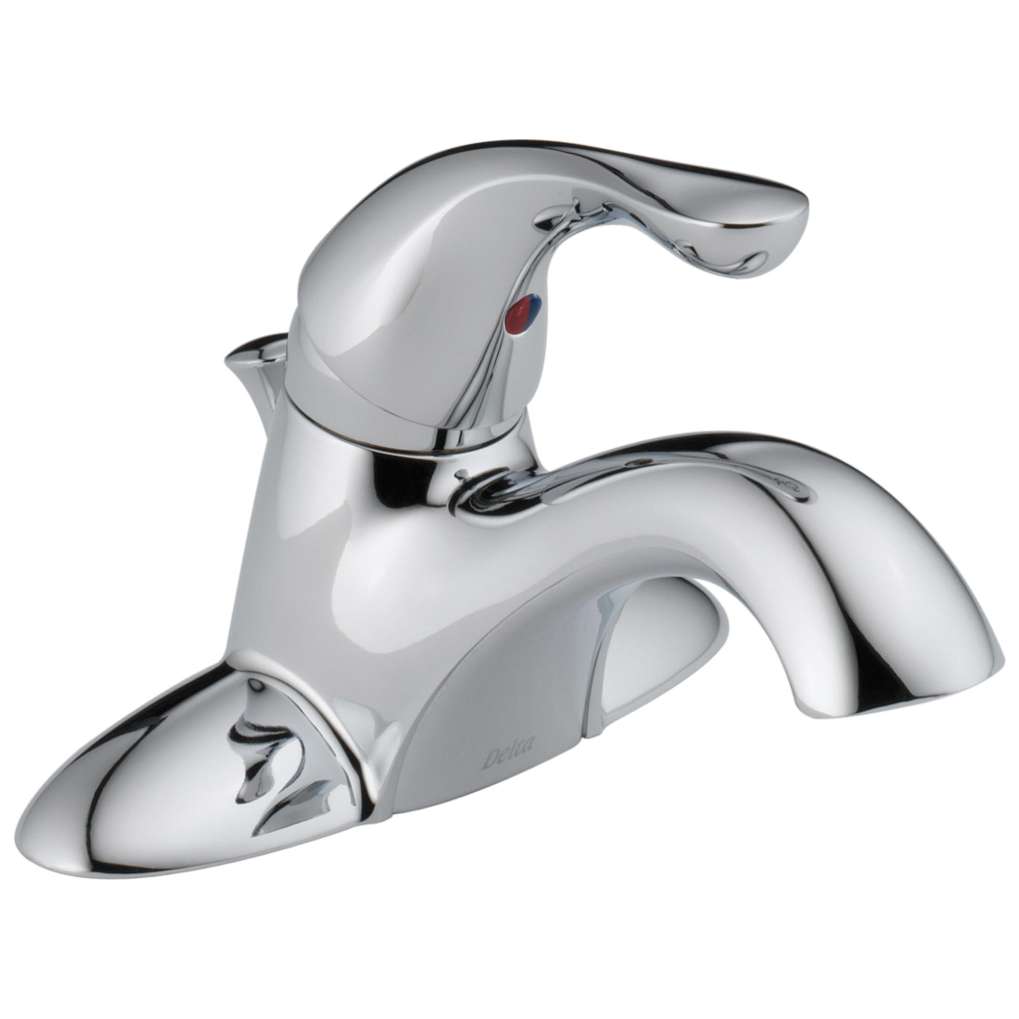DELTA® 520LF-WFMPU Lavatory Faucet, Classic, Chrome Plated, 1 Handles, Metal Pop-Up Drain, 1.2 gpm