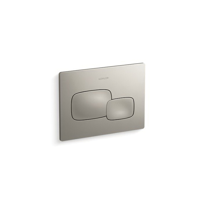 Kohler® 5413-BN Cue™ Flush Actuator Plate, For Use With Model K-18829-NA 2x4 in In-Wall Tank and Carrier System, Vibrant® Brushed Nickel