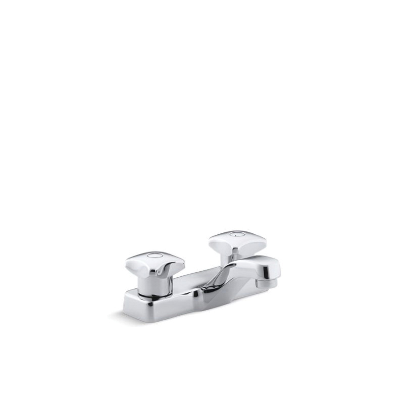 Kohler® 7404-2N-CP Centerset Bathroom Sink Faucet, Triton™, Polished Chrome, 2 Handles, 0.5 gpm