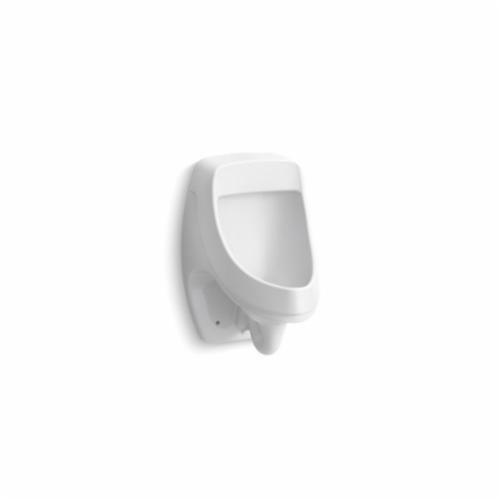 Kohler® 5452-ER-0 Dexter™ Washdown Urinal, 0.125 gpf, Rear Spud, Wall Mount, White