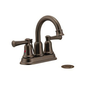 CFG 41217OWB Lavatory Faucet, Capstone®, Old World Bronze, 2 Handles, 50/50 Pop-Up Drain, 1.2 gpm