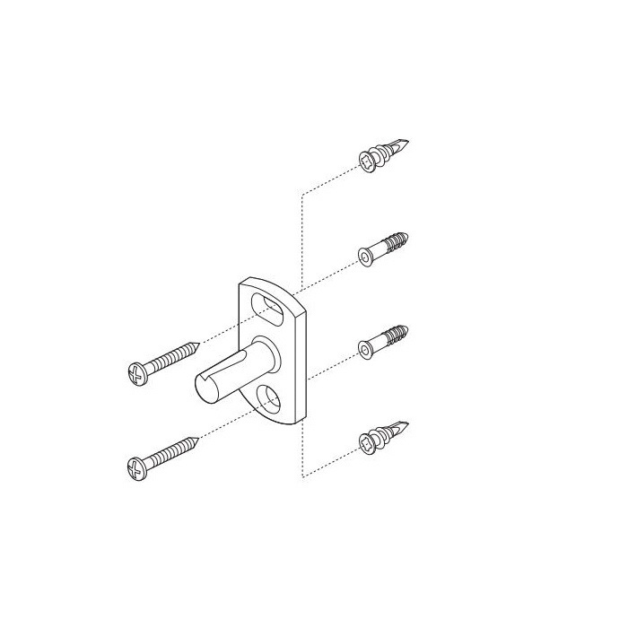 Brizo® RP50677 RSVP® Mounting Hardware, For Use With Model 69947 Mini Towel Bar, Import