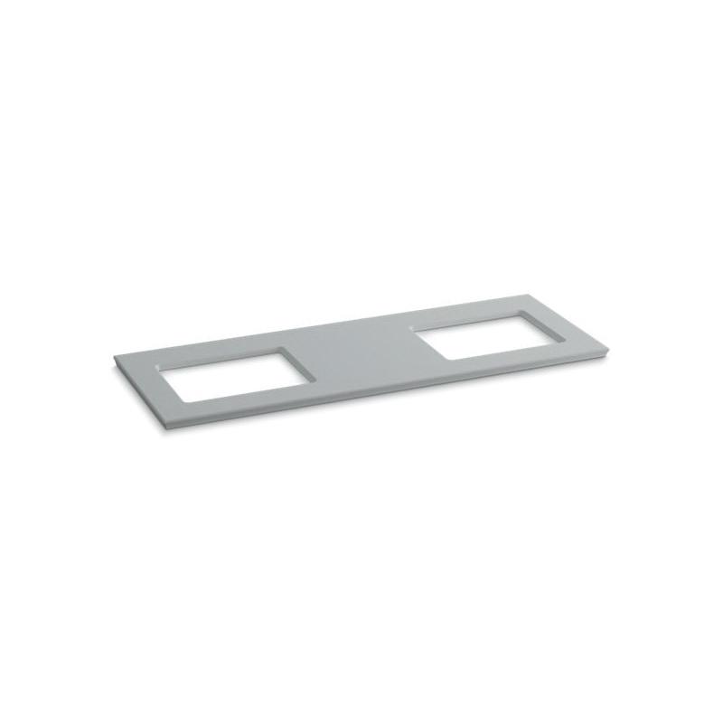 Kohler® 5461-S36 Solid/Expressions™ Bathroom Sink, 61-5/8 in OAWx22-13/16 in OADx1-1/4 in OAH, Ice™ Gray