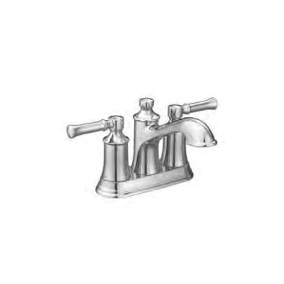 Moen® 66802 Centerset Bathroom Faucet, Dartmoor™, Chrome Plated, 2 Handles, Metal Pop-Up Drain, 1.2 gpm