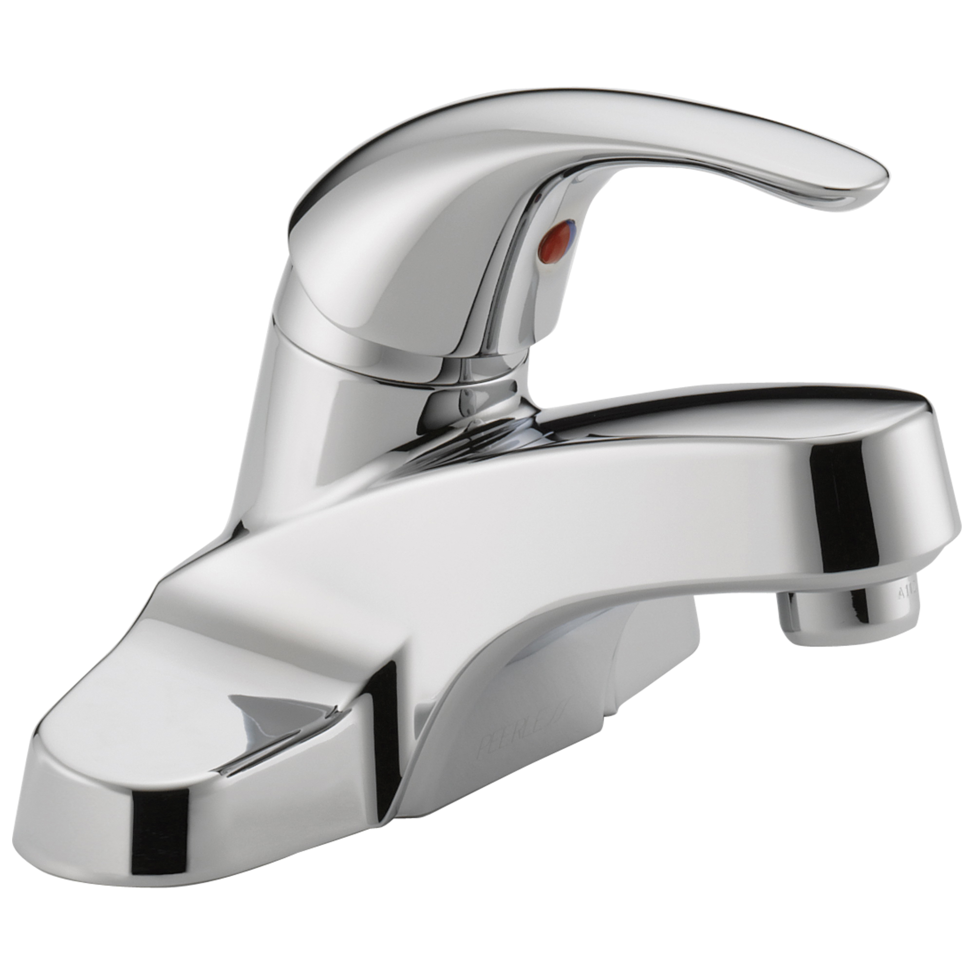 Peerless® P138LF-M Centerset Lavatory Faucet, Choice, Chrome Plated, 1 Handles, Grid Strainer Drain, 1.2 gpm