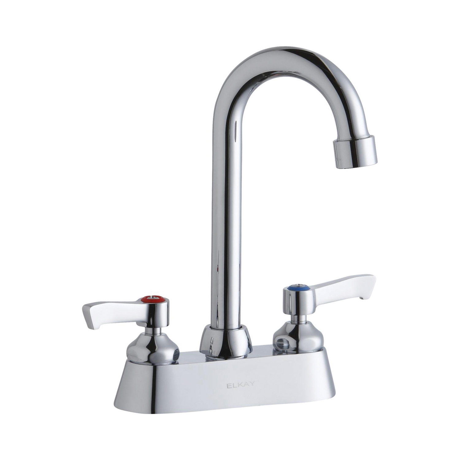 Elkay® LK406GN04L2 Centerset Bathroom Faucet, Chrome Plated, 2 Handles, 1.5 gpm
