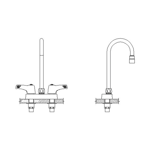 DELTA® 27C4833-TI Heavy Duty Lavatory Sink Faucet, TECK®, Polished Chrome, 2 Handles, 1.5 gpm