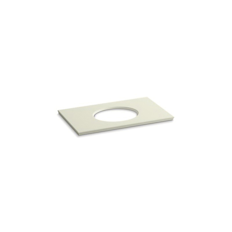 Kohler® 5423-S35 Solid/Expressions™ Vanity Top With Single Verticyl® Oval Cutout, 22-13/16 in OAWx22-13/16 in OADx1-1/4 in OAH, Stone Biscuit Top