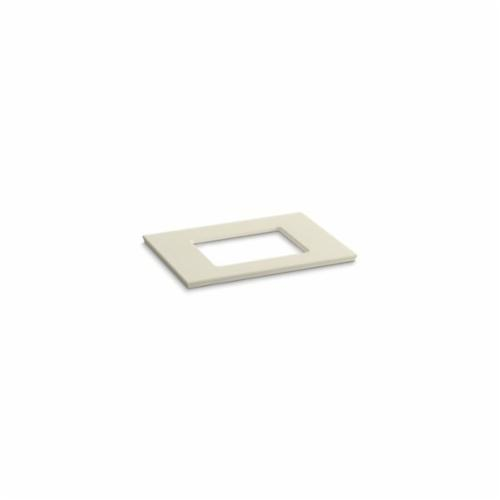 Kohler® 5456-S34 Solid/Expressions™ Vanity Top With Single Verticyl® Rectangular Cutout, 22-13/16 in OAWx22-13/16 in OADx1-1/4 in OAH, Stone Almond Top