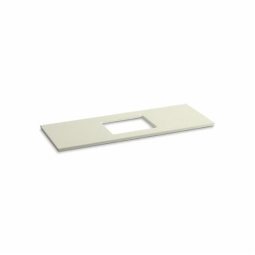 Kohler® 5459-S35 Solid/Expressions™ Vanity Top With Single Verticyl® Rectangular Cutout, 22-13/16 in OAWx22-13/16 in OADx1-1/4 in OAH, Stone Biscuit Top