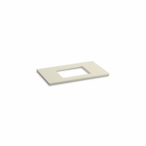 Kohler® 5457-S34 Solid/Expressions™ Vanity Top With Single Verticyl® Rectangular Cutout, 22-13/16 in OAWx22-13/16 in OADx1-1/4 in OAH, Stone Almond Top