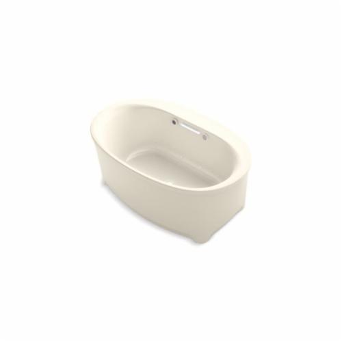 Kohler® 5702-GW-47 Underscore® Bathtub, BubbleMassage™, Oval, 60 in L x 36 in W, Center Drain, Almond