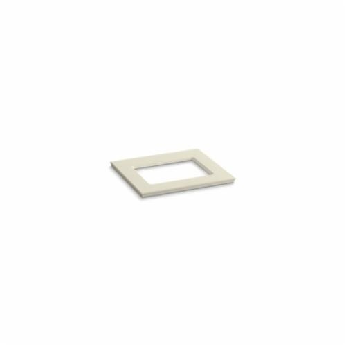 Kohler® 5455-S34 Solid/Expressions™ Vanity Top With Single Verticyl® Rectangular Cutout, 22-13/16 in OAWx22-13/16 in OADx1-1/4 in OAH, Stone Almond Top