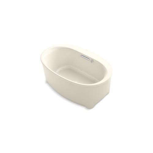Kohler® 5702-G-47 Underscore® Bathtub, BubbleMassage™, Oval, 60 in Lx36 in W, Center Drain, Almond