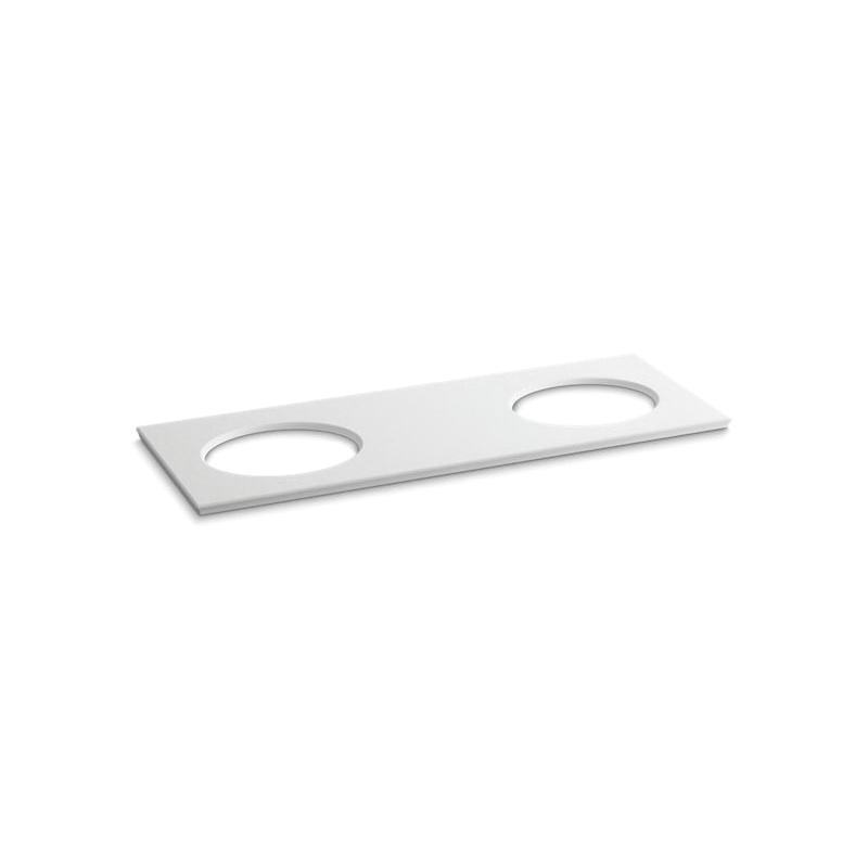 Kohler® 5433-S33 Solid/Expressions™ Bathroom Sink, 61-5/8 in OAWx22-13/16 in OADx1-1/4 in OAH, White