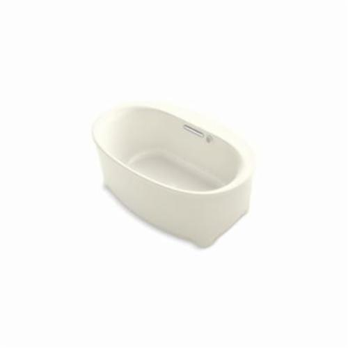 Kohler® 5702-G-96 Underscore® Bathtub, BubbleMassage™, Oval, 59-11/16 in Lx35-3/4 in W, Center Drain, Biscuit