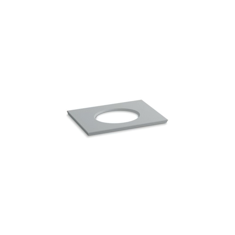 Kohler® 5422-S36 Solid/Expressions™ Vanity Top With Single Verticyl® Oval Cutout, 22-13/16 in OAWx22-13/16 in OADx1-1/4 in OAH, Stone Ice Gray Top